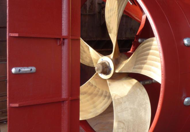 propeller and nozzle