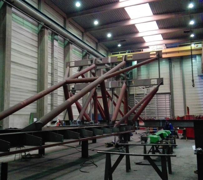 Neptune blade racks in workshop