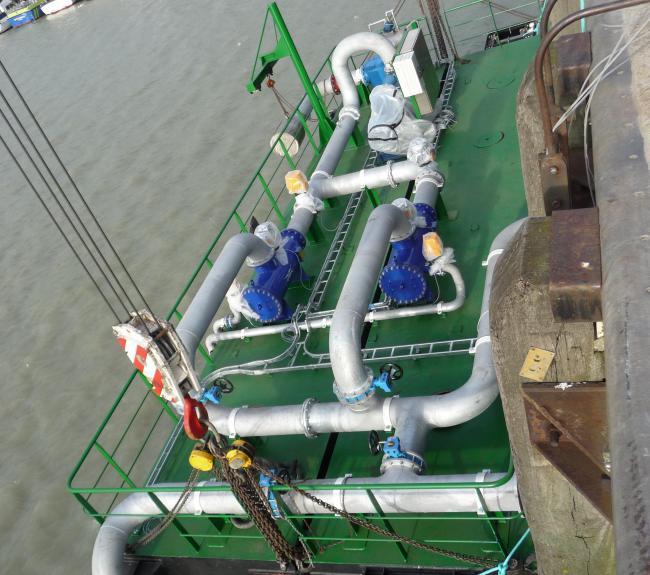 pomp ponton biomassacentrale